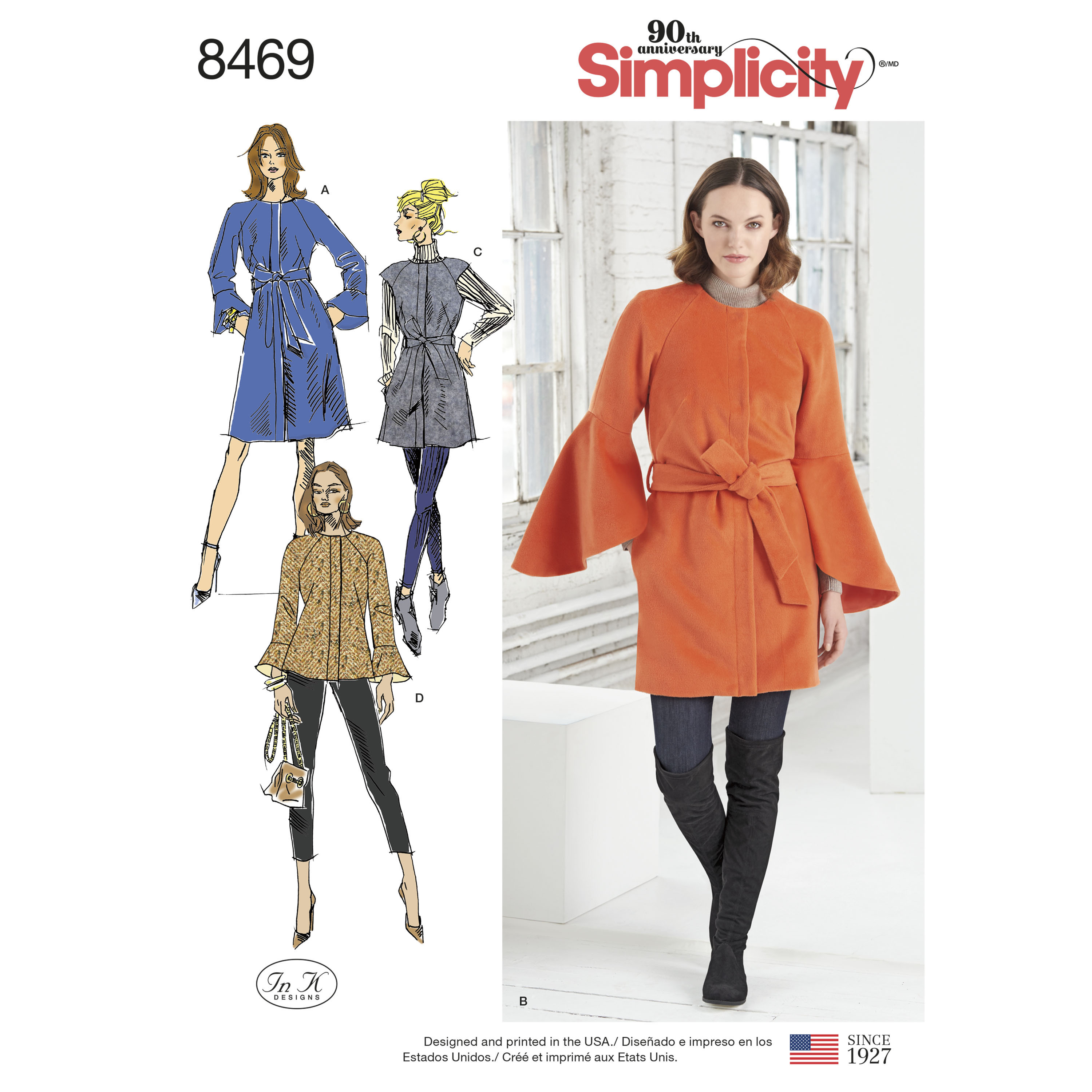 cbe3b2696 Simplicity Pattern 8469 Misses' Coat and Vest with Length Variations