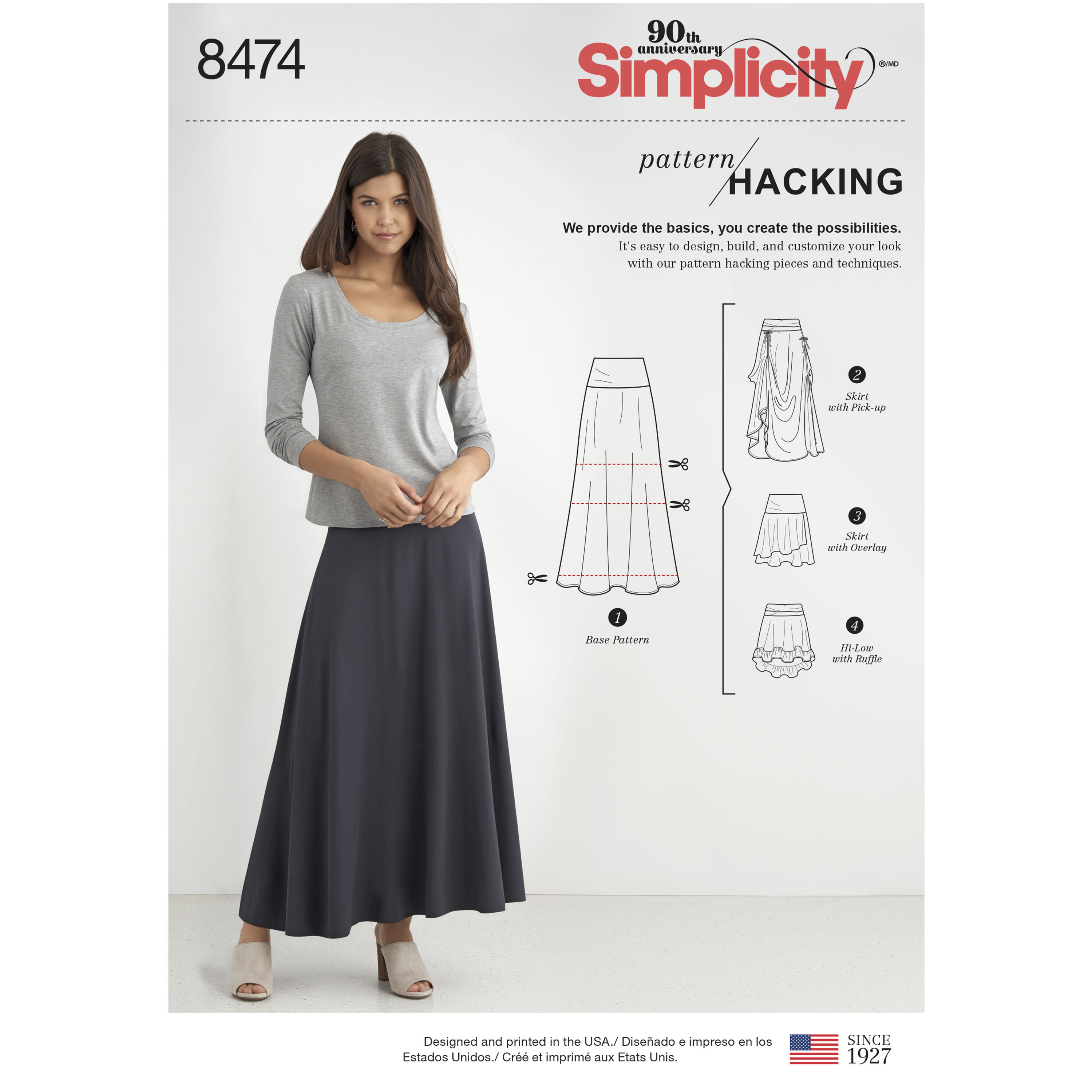bd5900d7ee Simplicity Pattern 8474 Misses' Knit Skirt with Options for Design ...