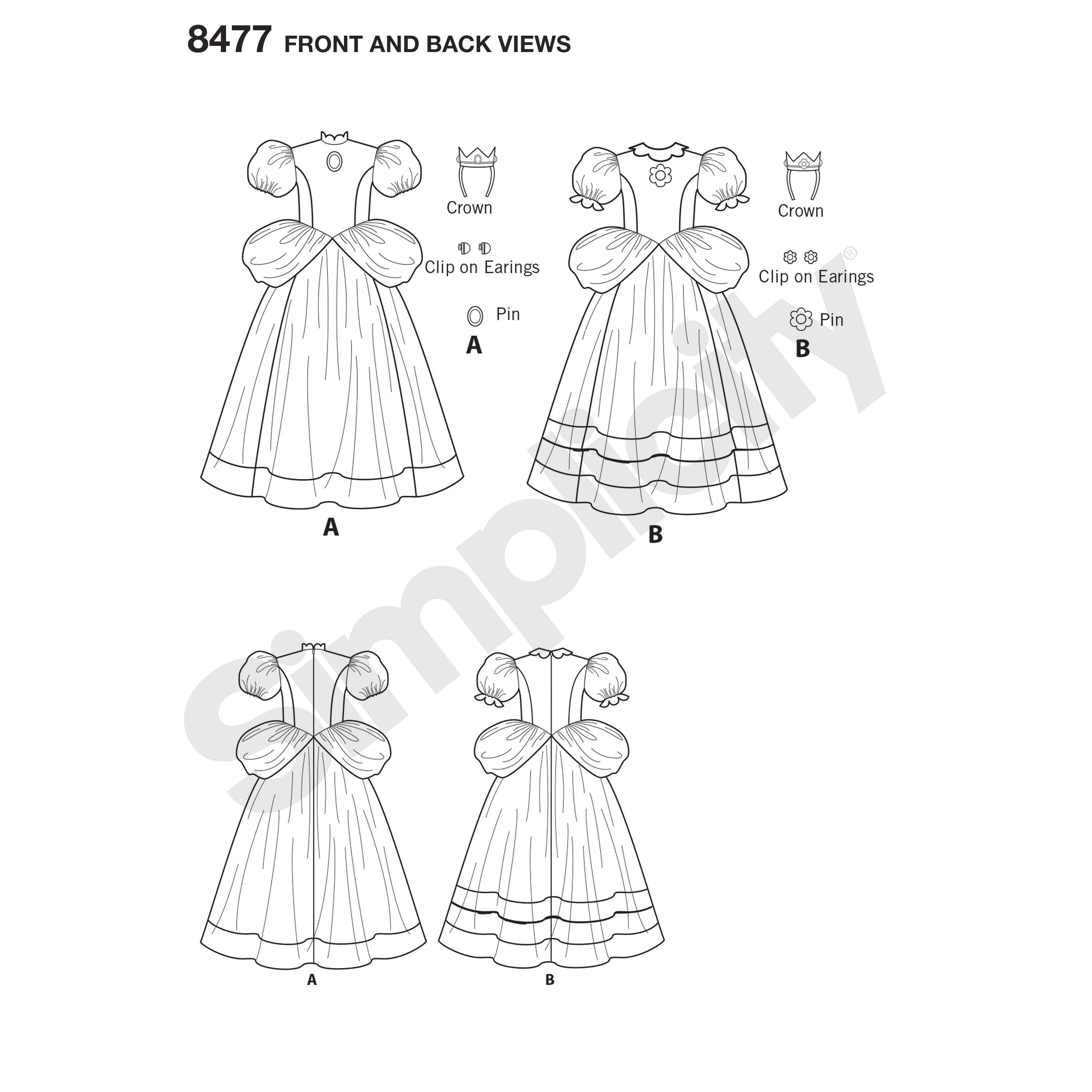 PrevNext  sc 1 st  Sewing Pattern Review & Simplicity Pattern 8477 Child Super Mario Princesses Costume