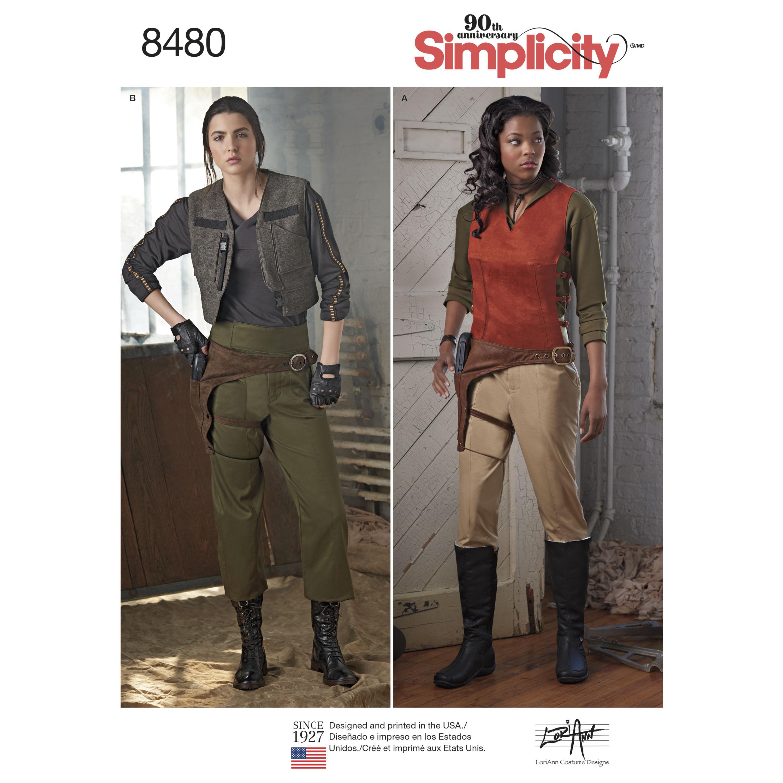 Simplicity 8480 Schnittmuster f/ür Damen Kost/üm und Accessoires