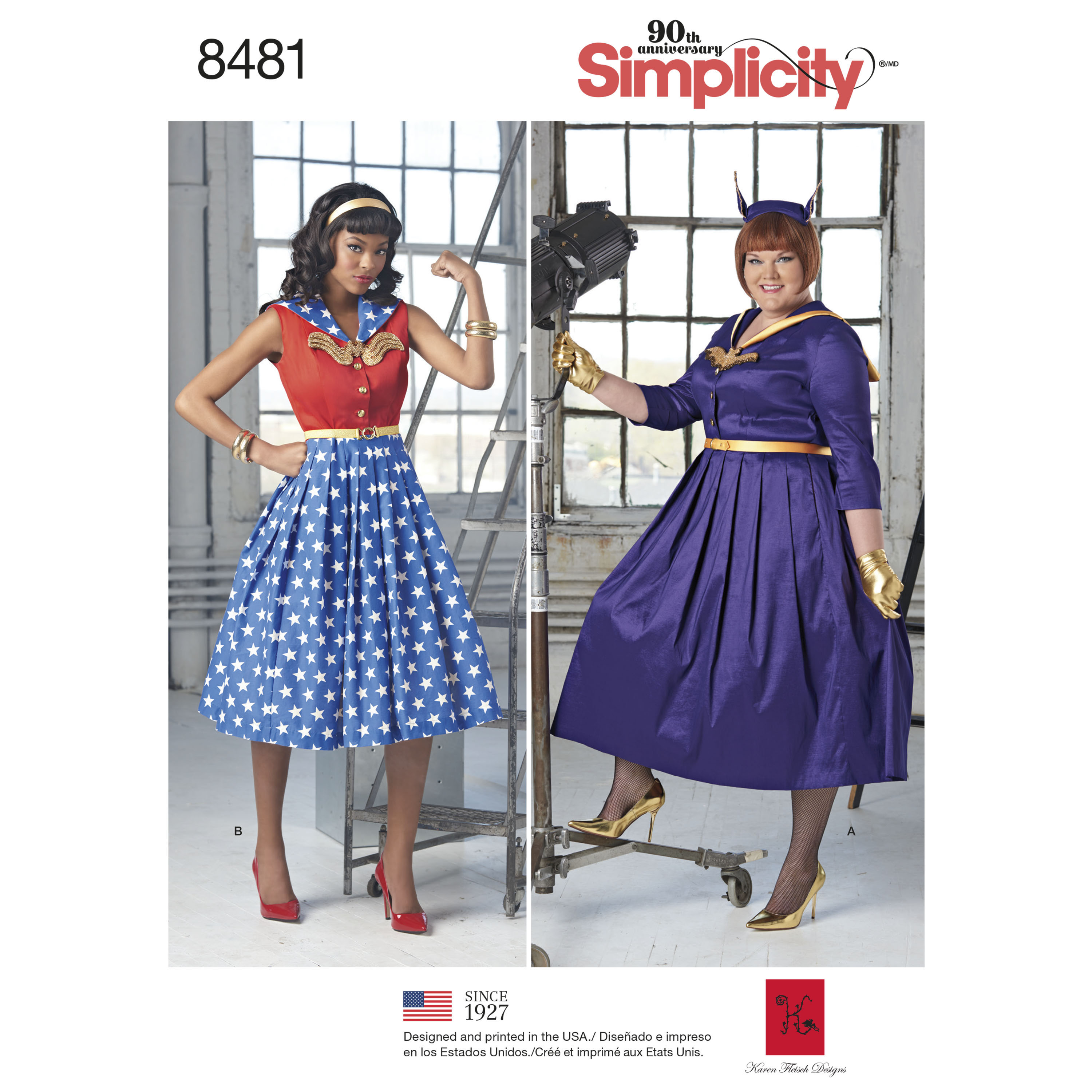 Simplicity Pattern 8481 Misses' and Womens Rockabilly Dresses