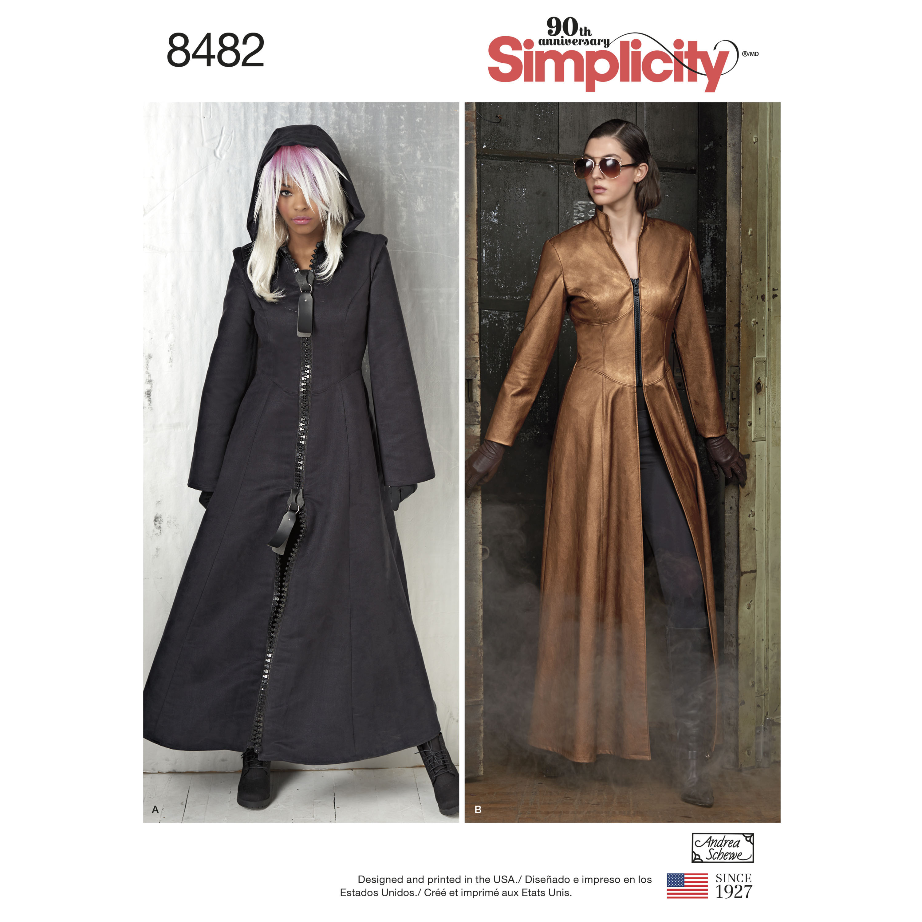 dbf5bd609 Simplicity Pattern 8482 Msses' Costume Coats