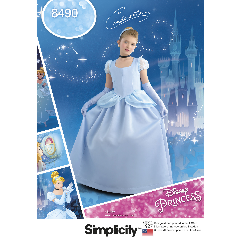 Simplicity Pattern 8490 Child\'s and Girls\' Cinderella Costume