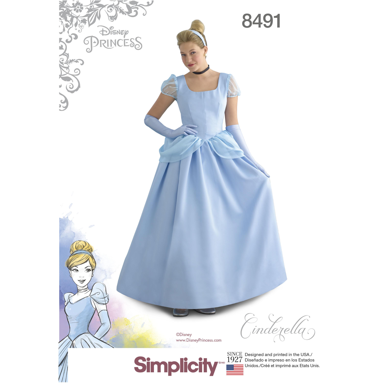 Simplicity Pattern 8491 Misses' Cinderella Costume