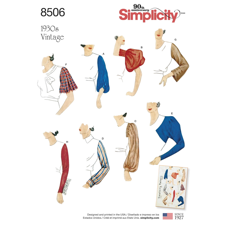 Simplicity Simplicity Pattern 8506 Misses' Vintage Set of ...