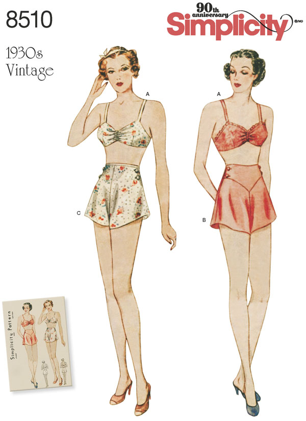 Simplicity Simplicity Pattern 40 Misses' Vintage Brassiere And Panties Best Simplicity Patterns