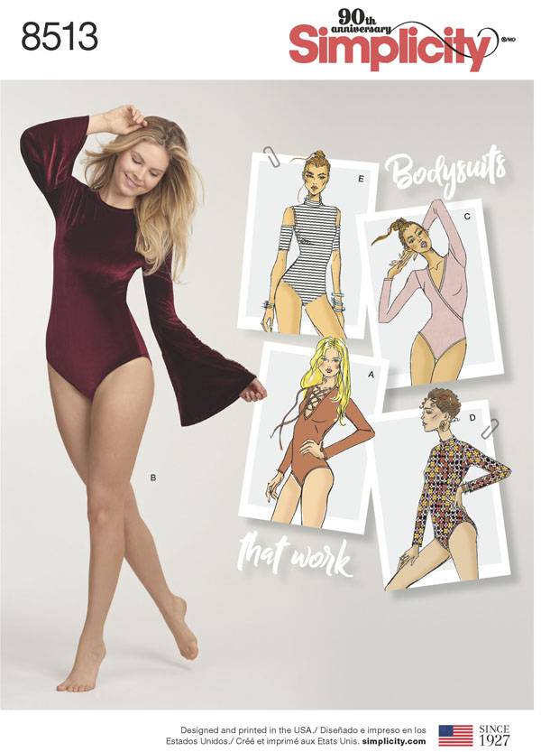 Simplicity Simplicity Pattern 40 Misses' Knit Bodysuits Adorable Simplicty Patterns