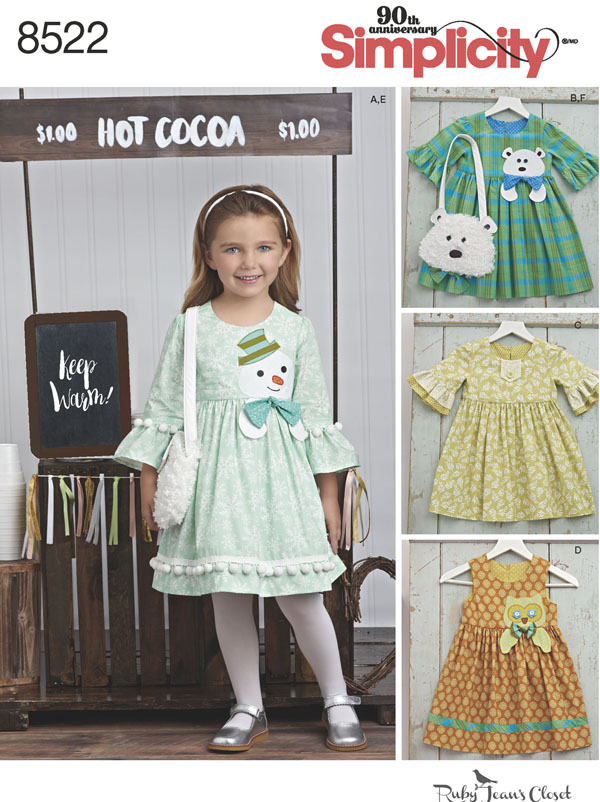 Simplicity Simplicity Pattern 40 Child's Dresses and Purses from Amazing Simplicity Pattern