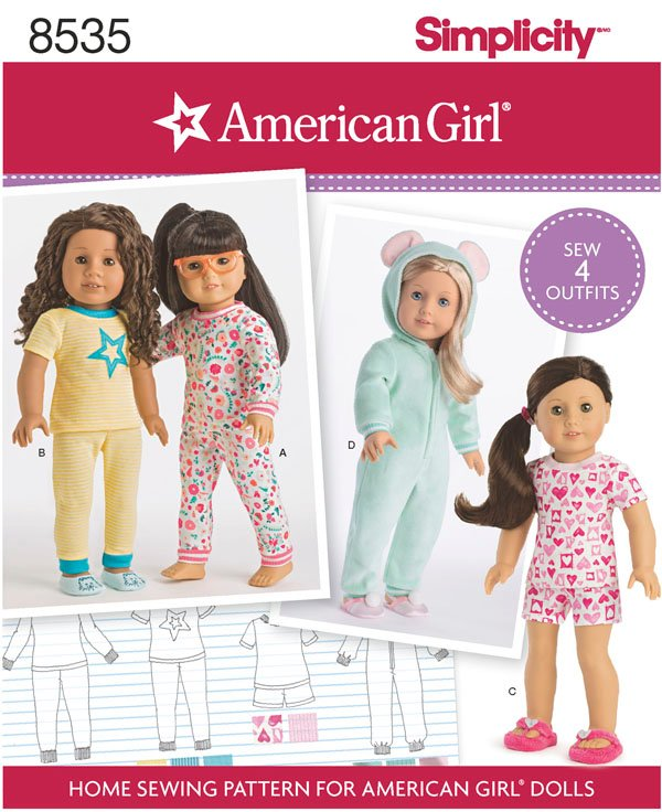 Simplicity Simplicity Pattern 40 American Girl 40 Doll Clothes Classy American Girl Patterns