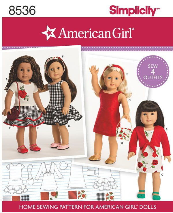 Simplicity Simplicity Pattern 40 American Girl 40 Doll Clothes New American Girl Patterns