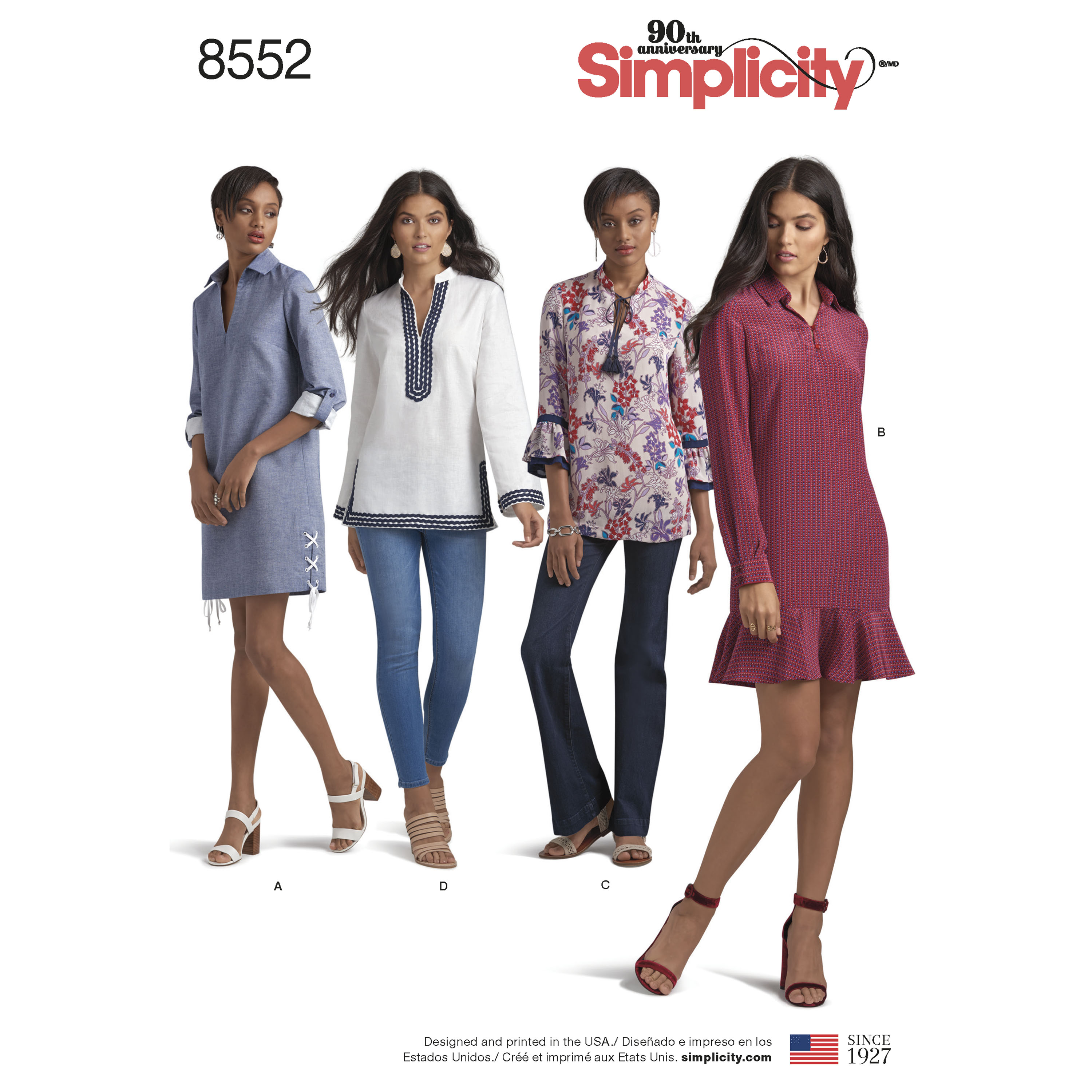 Simplicity Simplicity Pattern 8552 Misses' and Miss Petite Dress and Tunic