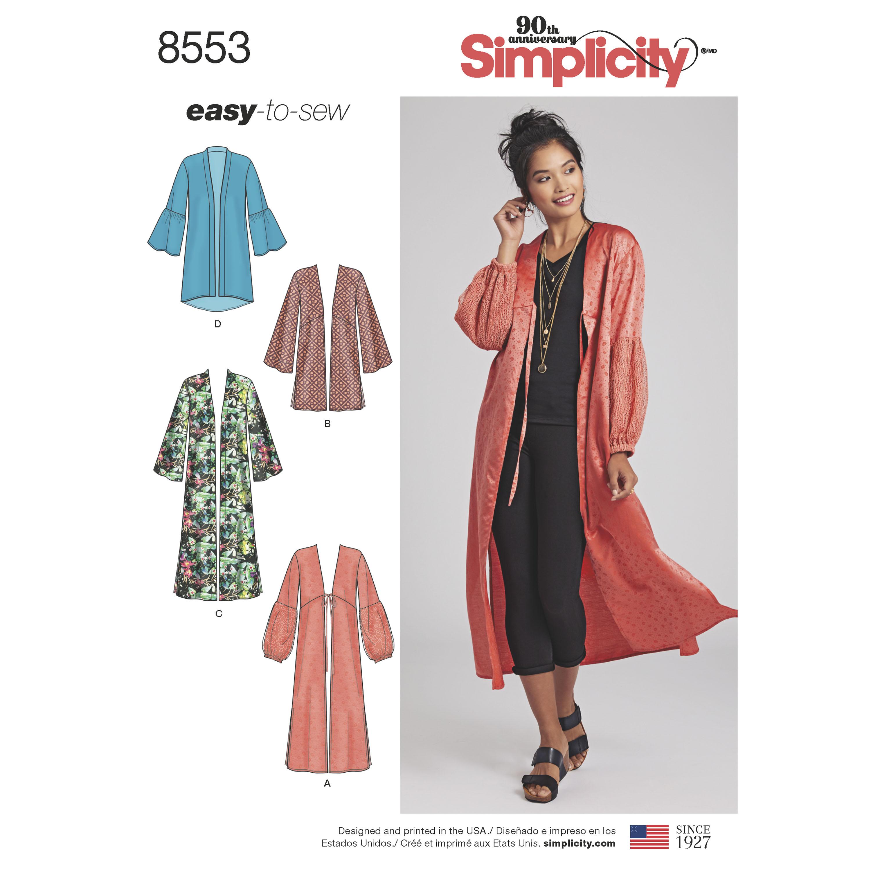 Simplicity Simplicity Pattern 8553 Misses' Kimonos