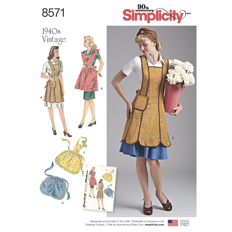 Simplicity Simplicity Pattern 8571 Misses' Vintage Aprons