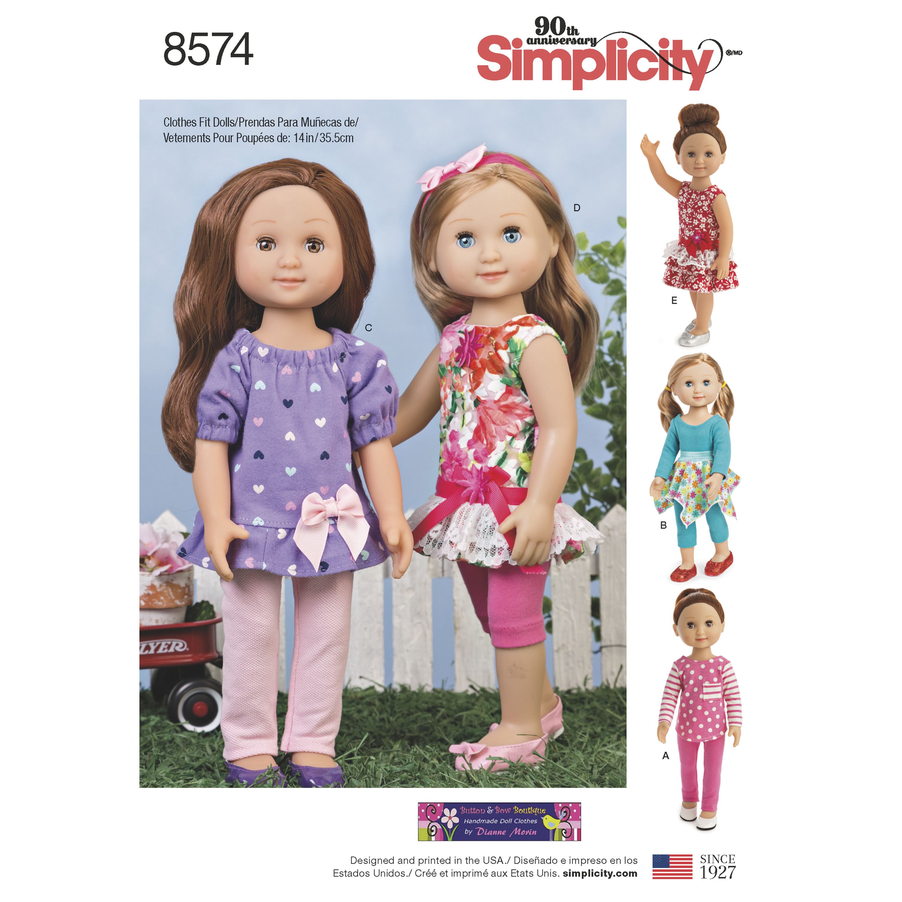 Simplicity simplicity pattern 8574 14 doll clothes prevnext jeuxipadfo Image collections