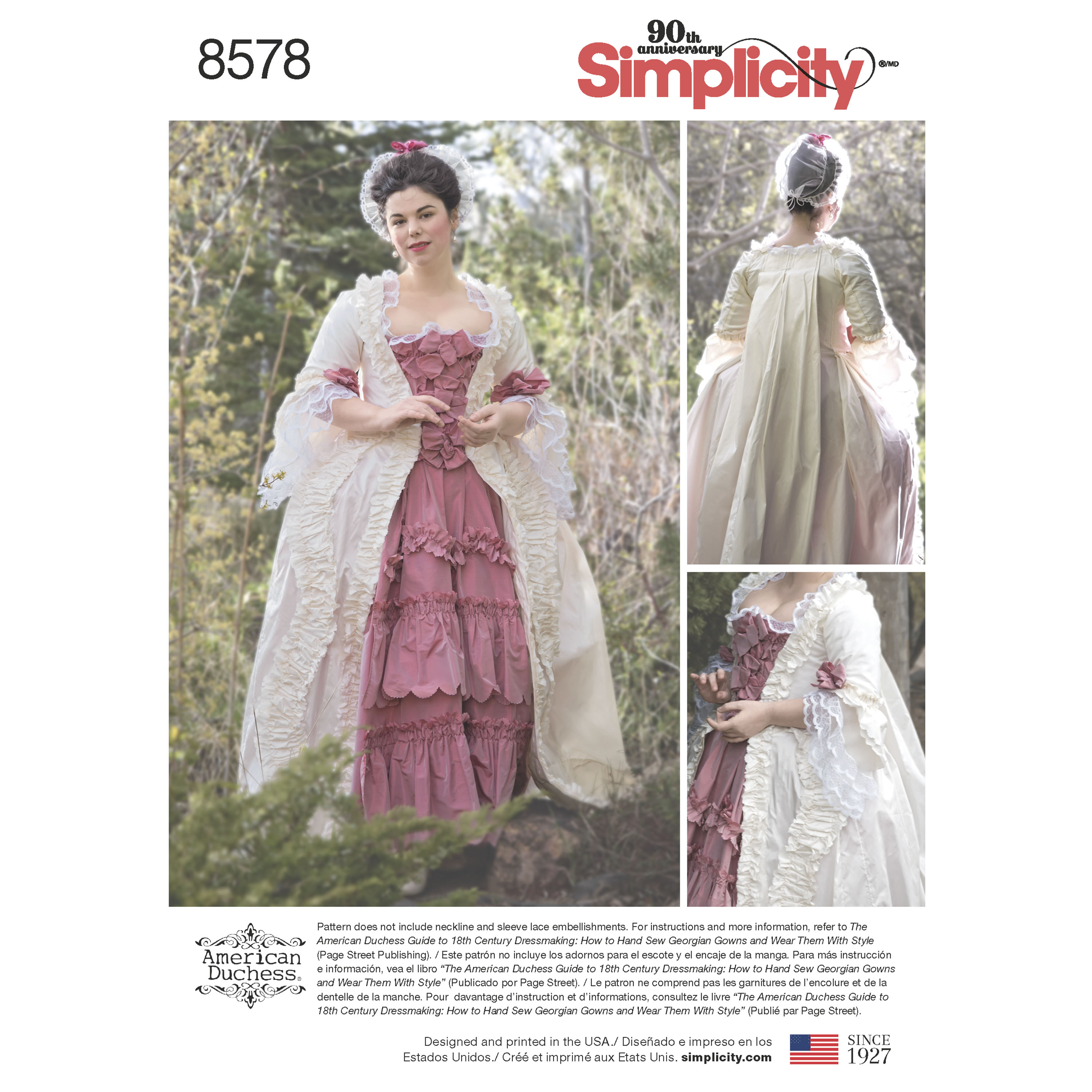 Simplicity Simplicity Pattern 8578 Misses' 18th Century Gown