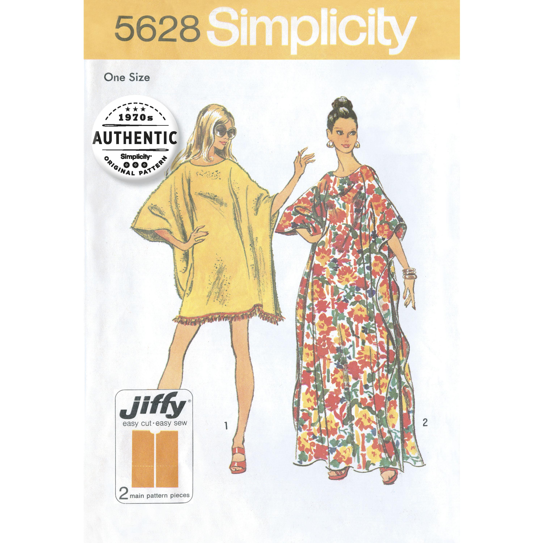 Simplicity 5628 Misses\' One-Size Vintage Jiffy Caftan