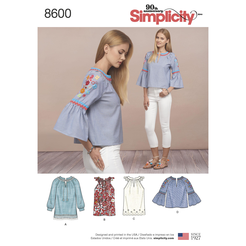 a2675a3c1 Simplicity 8600 Misses  Pullover Top