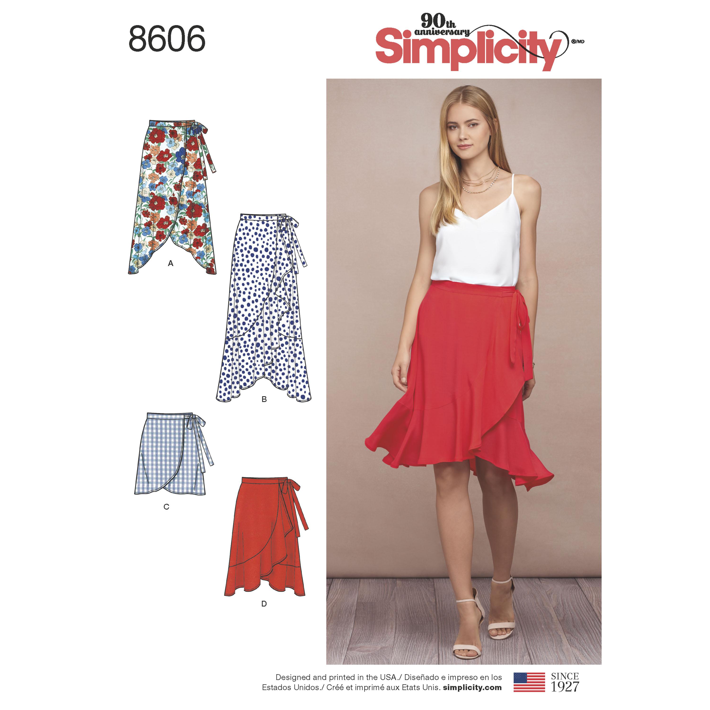 Kwik Sew K2954 Wrap Skirts Sewing Pattern Size XS-S-M-L-XL