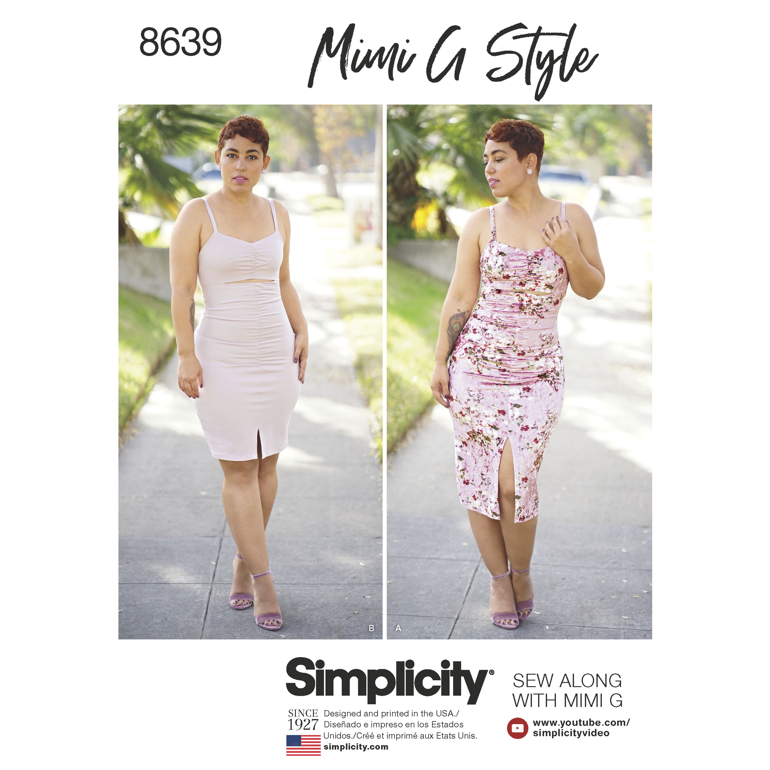Simplicity 8639 Misses\' Mimi G Knit Dress in Two Lengths