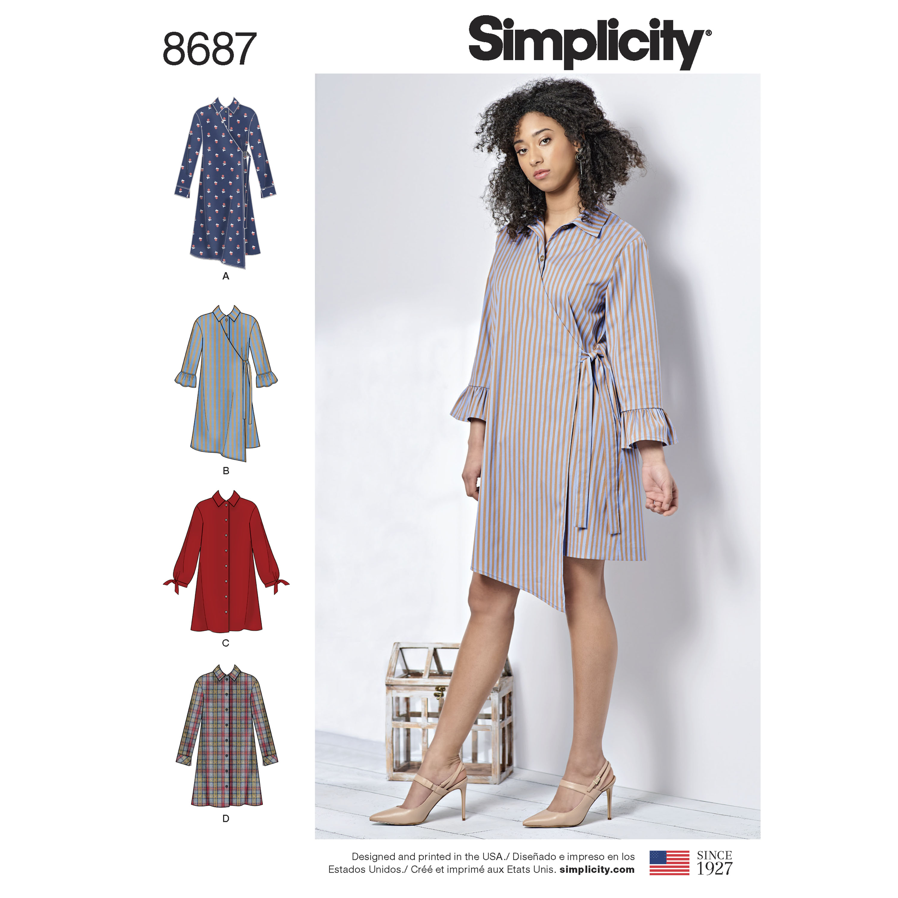 5c7588d40f6 PrevNext. Create a spin on the classic shirt dress with this dress pattern  for Misses and Women.