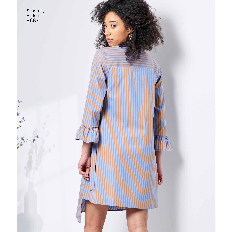 Simplicity 8687 Misses Women S Shirt Dresses