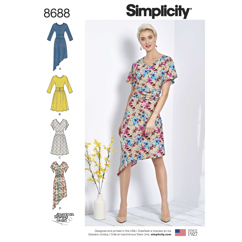 Simplicity 8688 Misses\' Knit Dresses
