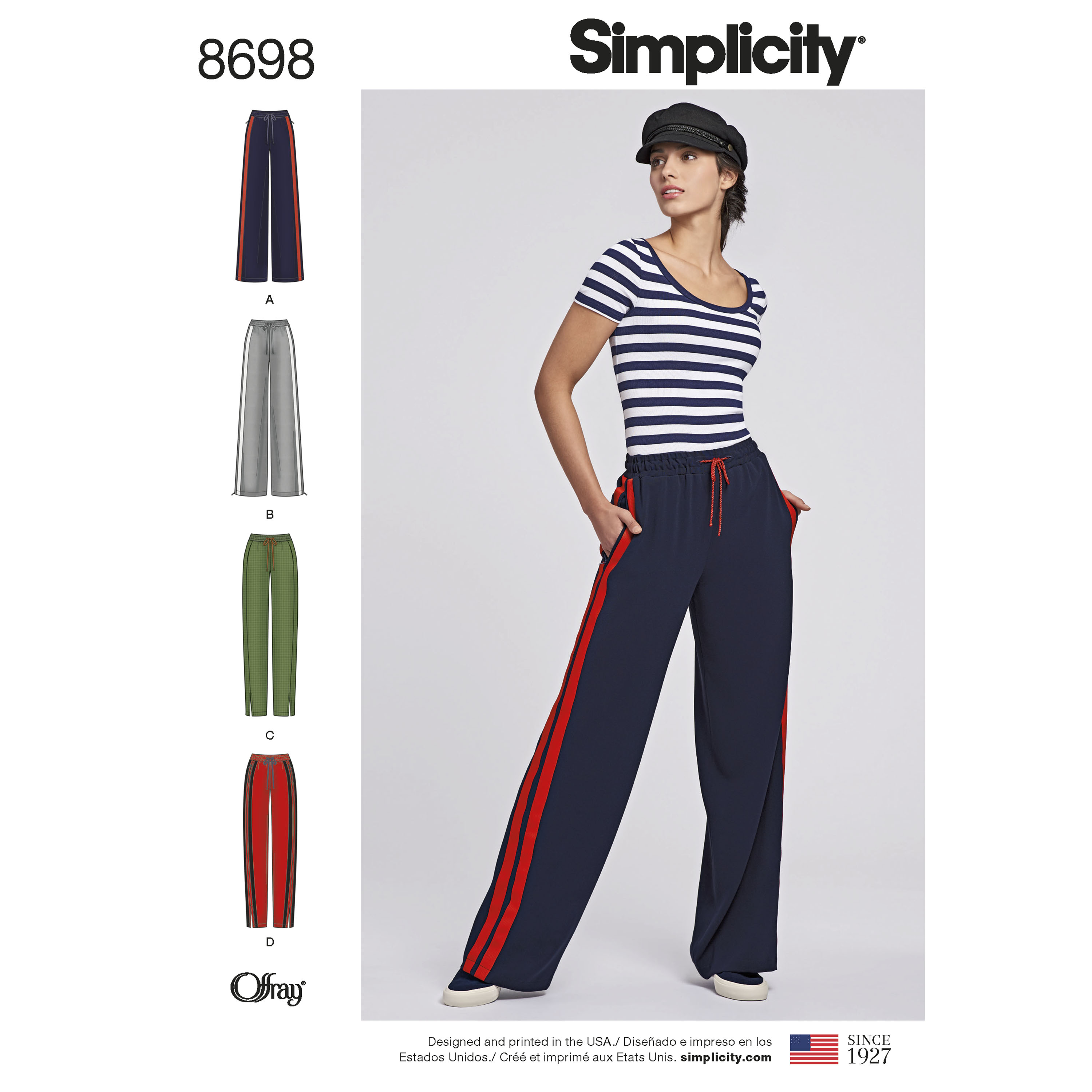 Men /& Child Pull On Joggers Trousers Simplicity Sewing Pattern 8268 Misses