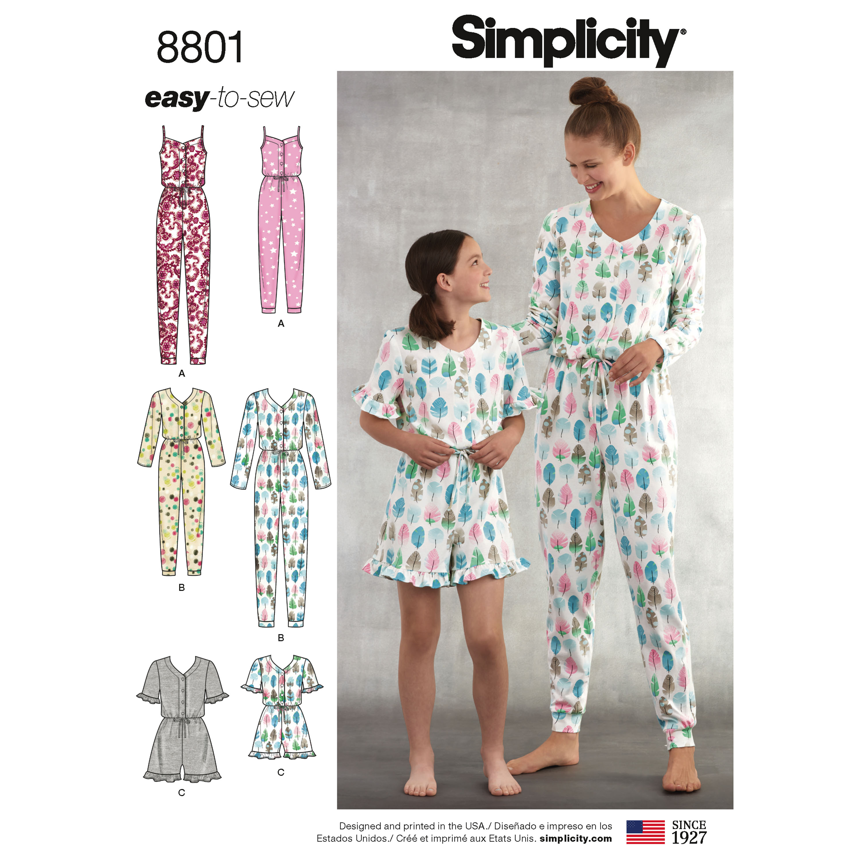 11089d9898ce Simplicity 8801 Girls  and Misses  Knit Jumpsuit and Romper