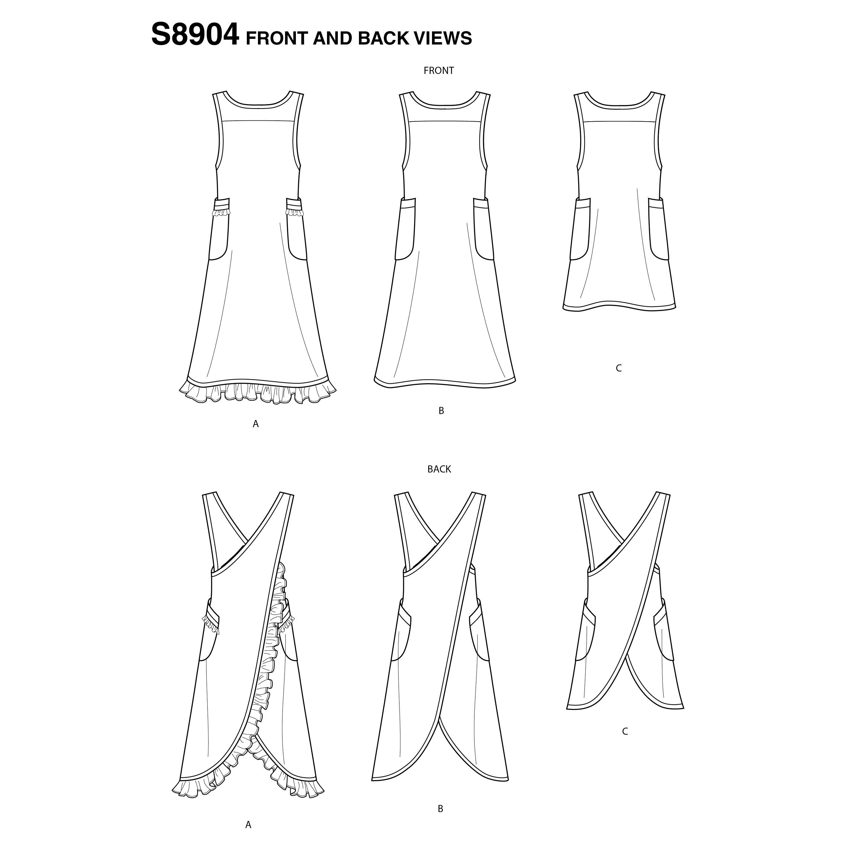 Simplicity Sewing Pattern 8904 Aprons A XS-S-M-L-XL