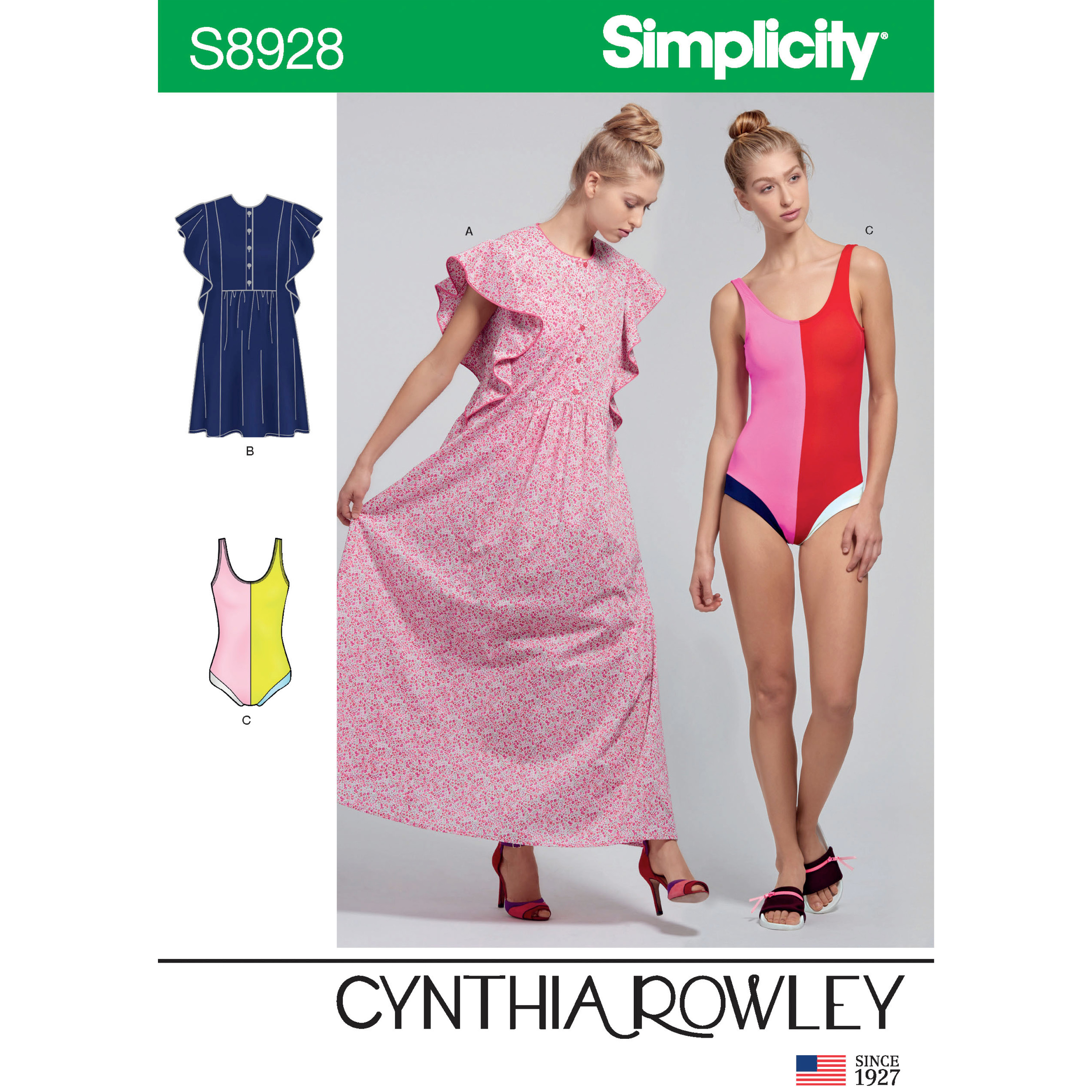 Simplicity Sewing Pattern 8928 Misses/' Swimsuit /& Caftans by Cynthia Rowley