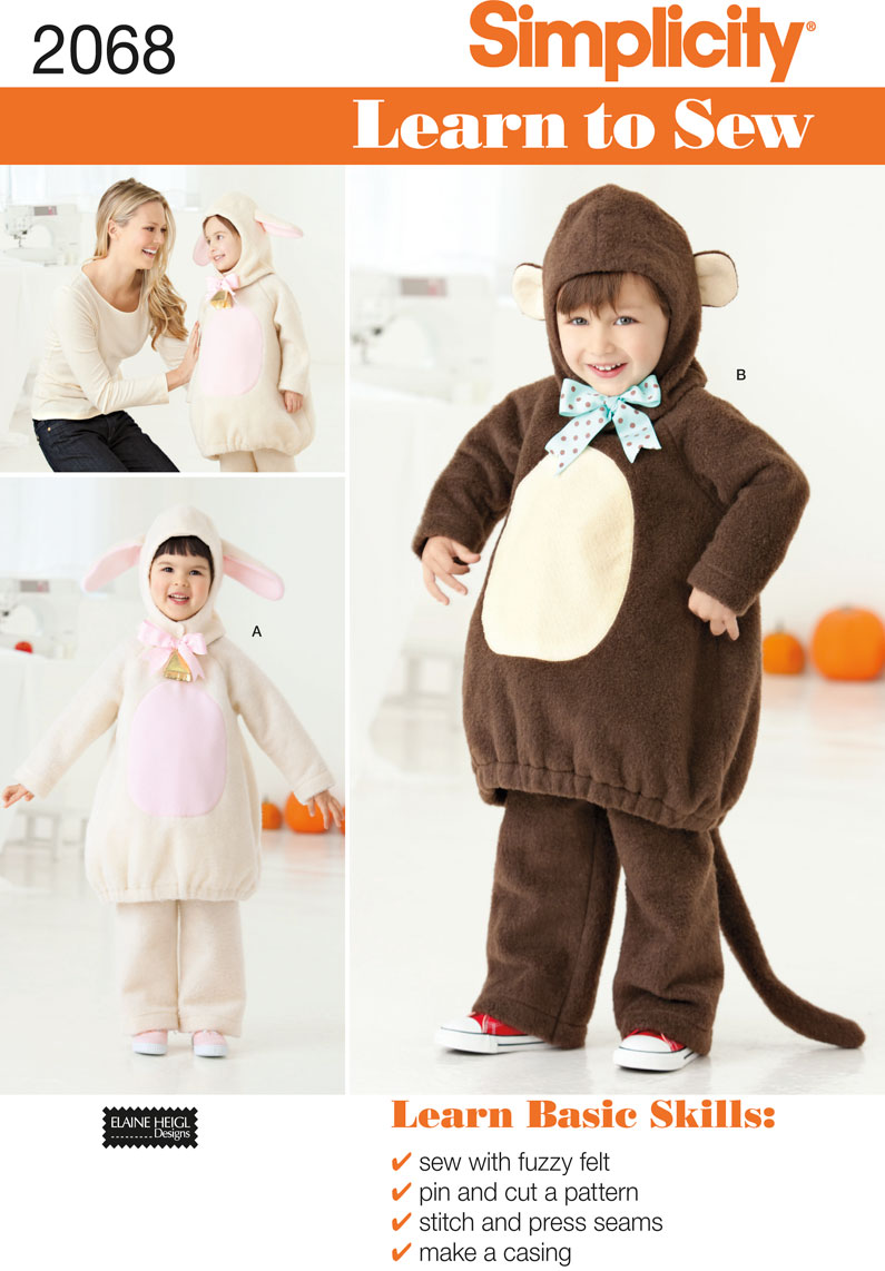 Simplicity 2068 Toddler's Costume