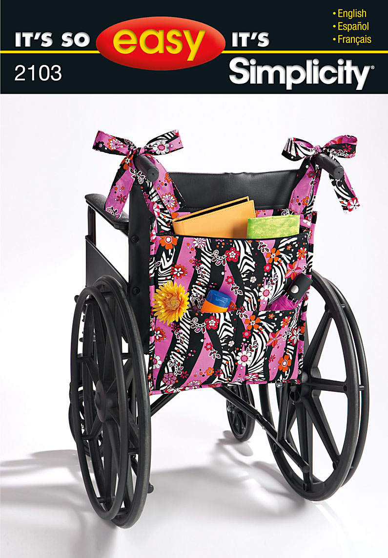 Simplicity 2103 Bag For Wheelchair Walker Or Lounge Chair