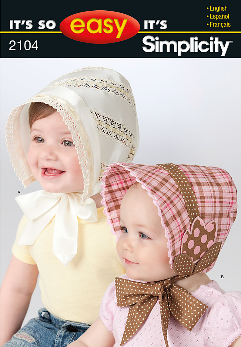 da8996c88ac Simplicity 2104 Babies and Toddlers Hat