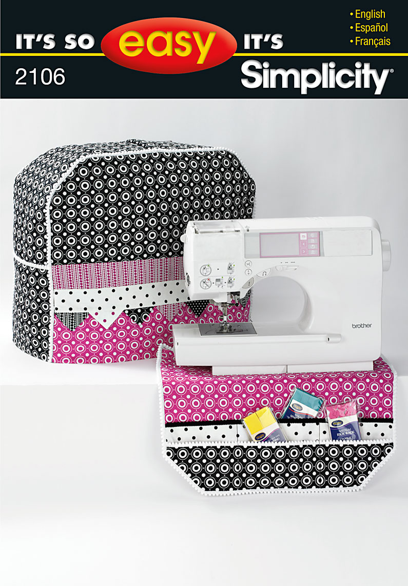 Book Cover Sewing Machines : Simplicity sewing machine cover and organizer
