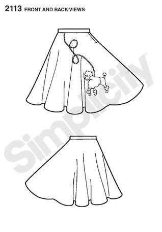poodle skirt applique template - simplicity 2113 child 39 s poodle skirt