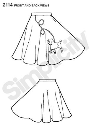 Simplicity 2114 Misses Costume Poodle Skirt