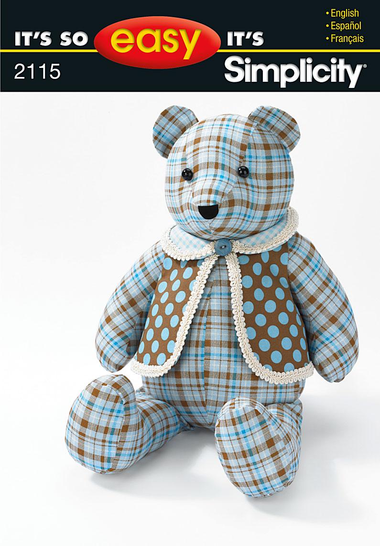 Simplicity 2115 18 bear and vest prevnext jeuxipadfo Choice Image