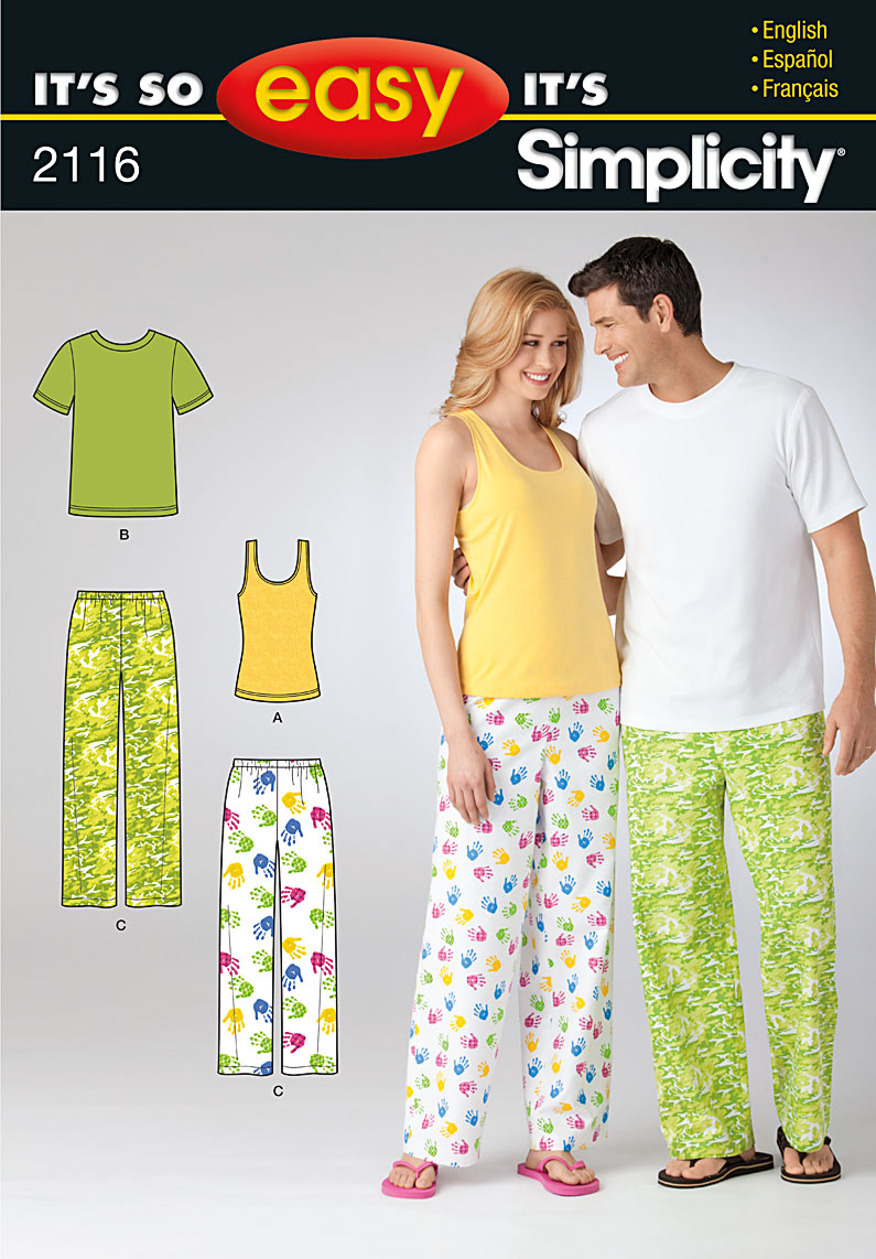 Simplicity Pajama Patterns Custom Decorating Ideas