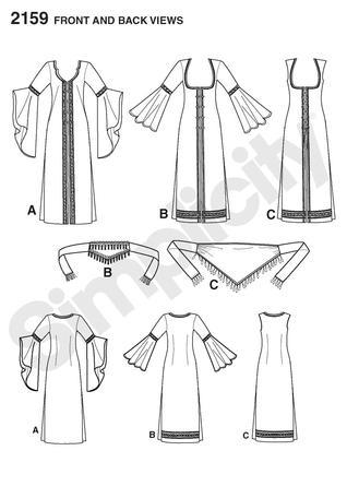 Simplicity 2159 Misses Belly Dancer Costume