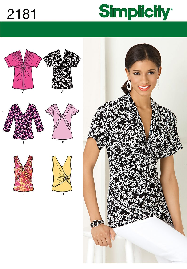 Simplicity 2181 misses 39 knit tops for Pattern shirts for women