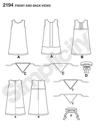 Simplicity 2194 Learn to Sew Children\'s & Girls\' Dresses