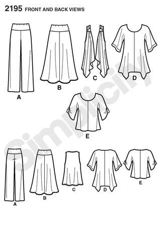 Simplicity 2195 Misses\' & Plus Size Sportswear