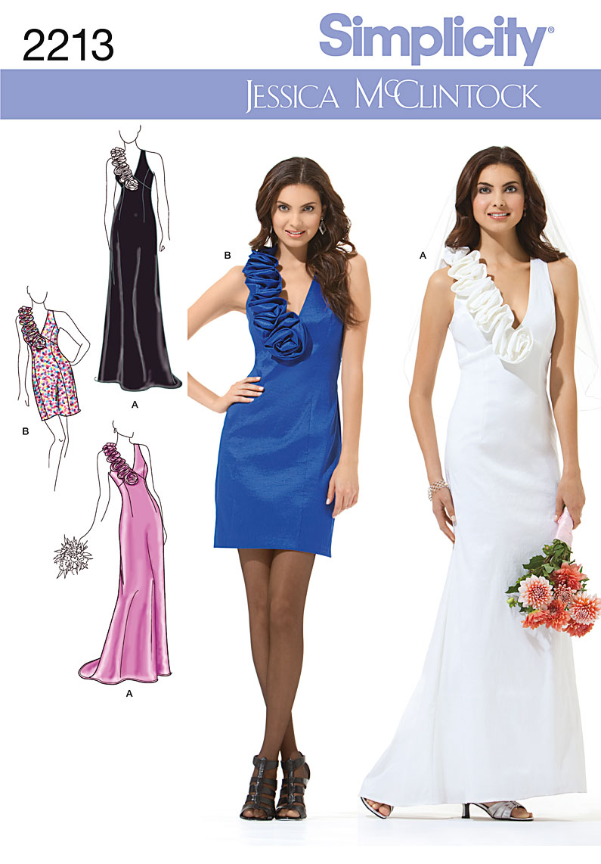 Simplicity 2213 Misses\' & Miss Petite Evening Dresses
