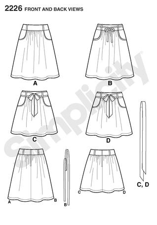 Simplicity 2226 Learn to Sew Misses\' Skirt