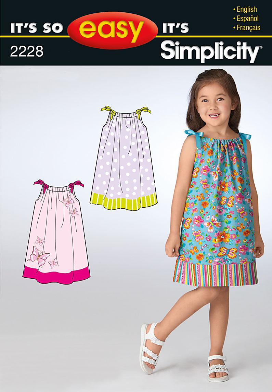 Simplicity 2228 It's So Easy Child's Dresses