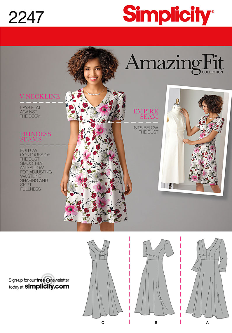 Simplicity 2247 Misses' & Plus Size Amazing Fit Dresses