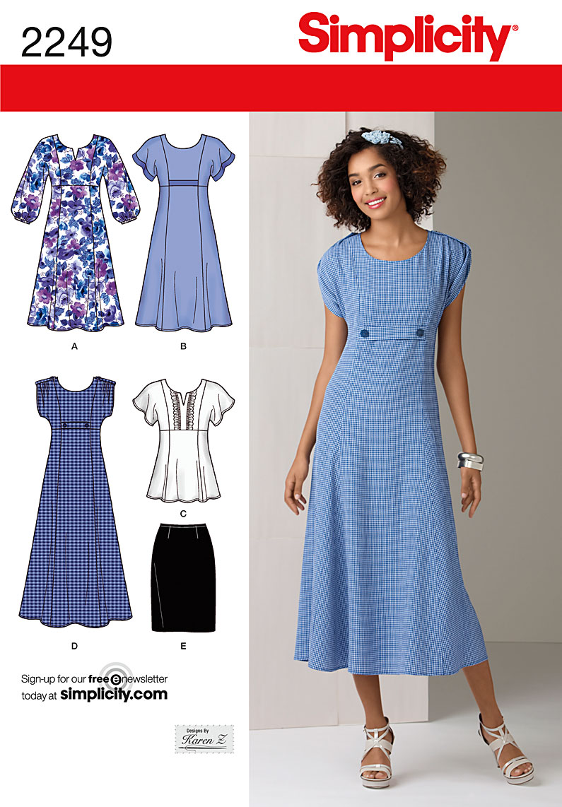 Simplicity 2249 Misses' & Plus Size Dresses