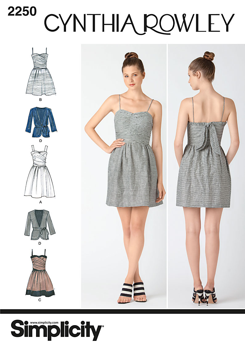 Simplicity 2250 Misses' Dresses. Cynthia Rowley Collection