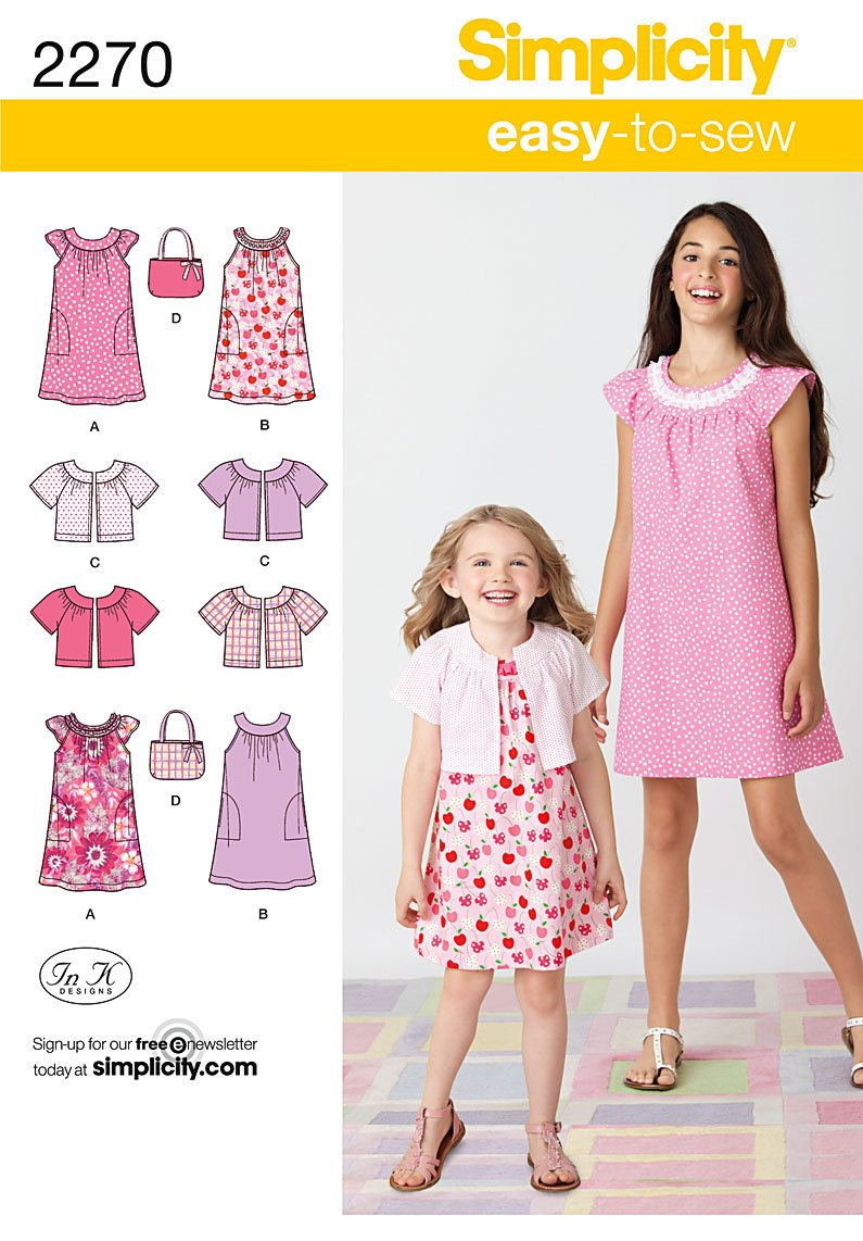 Simplicity 2270 Childs Dress Jacket And Bag