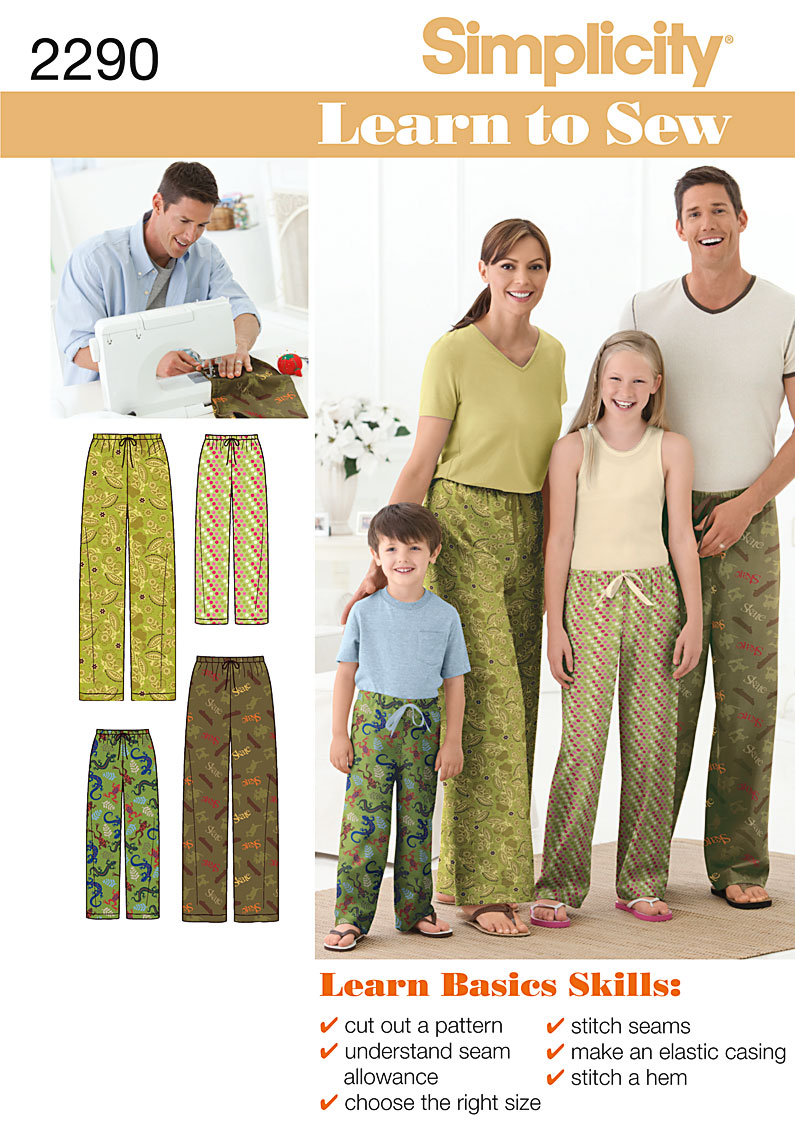 f0e91fb763 PrevNext. Simplicity s Learn to Sew pattern collection. Child s